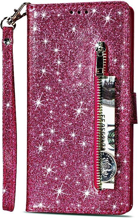Custodia color Fucsia con tasche e chiusura magnetica a libro per
