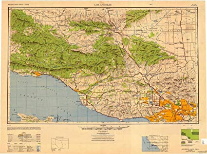 Los Angeles County California USGS Topographic Maps on CD