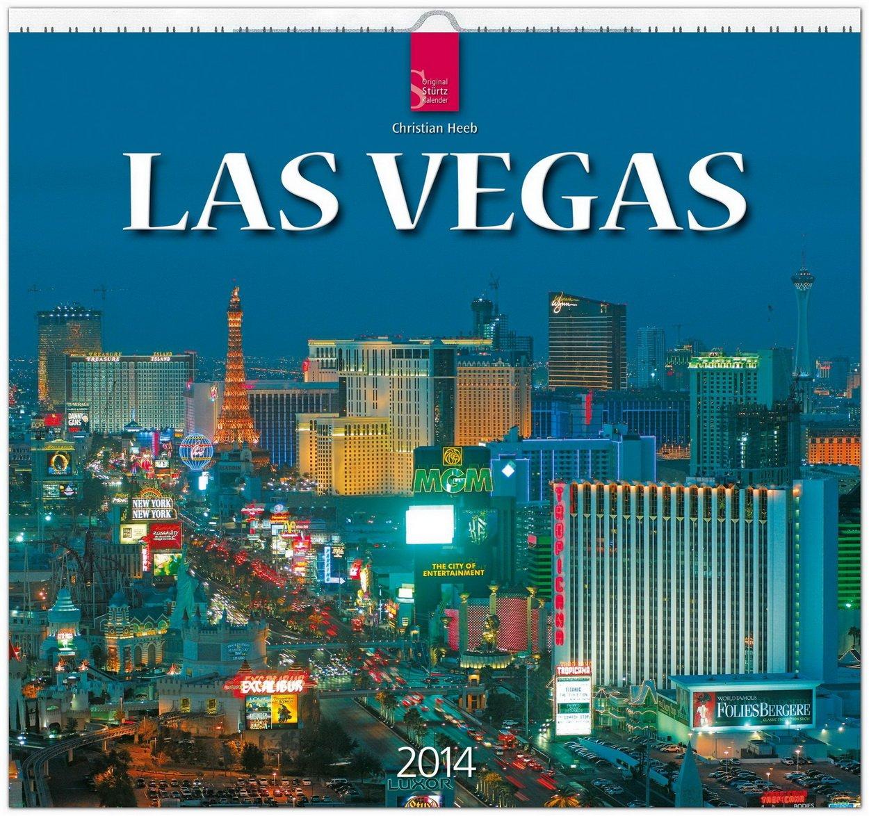 Las Vegas 2014: Original Stürtz-Kalender - Mittelformat-Kalender 33 x 31 cm [Spiralbindung]