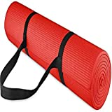 Effingo Red Yoga and Exercise Mat of 3 mm Yoga Mat with Carry Strap
