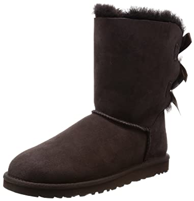 UGG Australia Womens Bailey Bow Chocolate Boot - 6