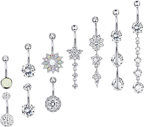 Belly Ring 5pcs //lot Dangle Button Belly Piercing Body Piercing Fahion