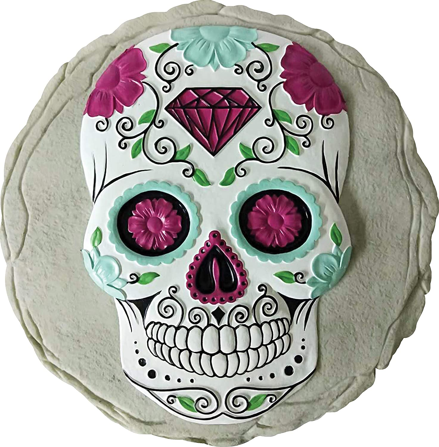 Spoontiques 13212 Sugar Skull Stepping Stone, Multicolor