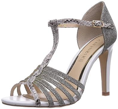 Silber2126 Argent Cafènoir Femme SandalSandales Pour Argento QrtshdCx
