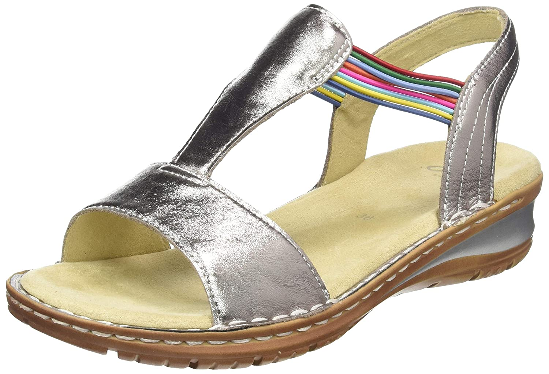 Beige (Zinn, Piombo 76) ARA Damen Hawaii 1237206 T-Spangen Sandalen