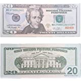 COPY MONEY Total $2, 000 Dollar $20X100 Pcs FAKE MONEY US Currency Props Advertising & Novelty Real Looking New Style Copy Double-Sided Printing - for Movie, TV, Videos