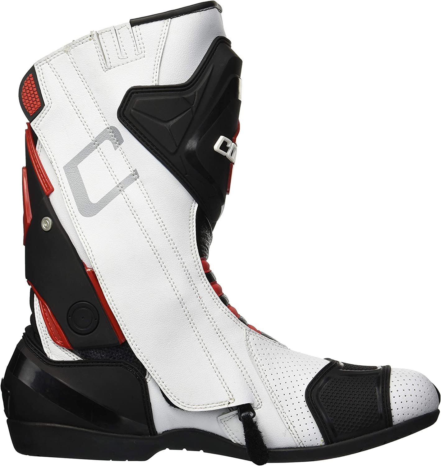 White//Red, Size 11 Cortech Mens Impulse Air Road Race Boot
