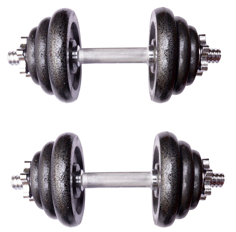 Juego de mancuernas ajustable, de hierro fundido, ideal para culturismo, fitness, entrenamiento de levantamiento de peso, en casa y en el gimnasio, ...