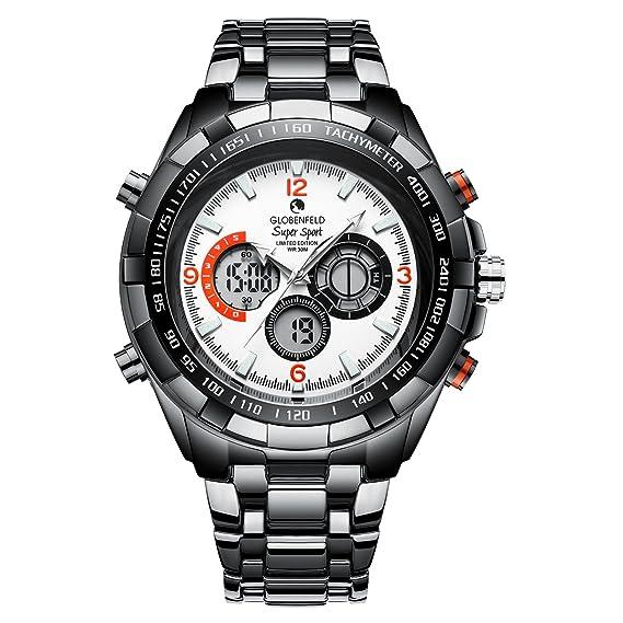 Globenfeld Reloj de Hombre Super Sport 2.0 - Reloj Deportivo Cronógrafo, Analógico/ Digital -