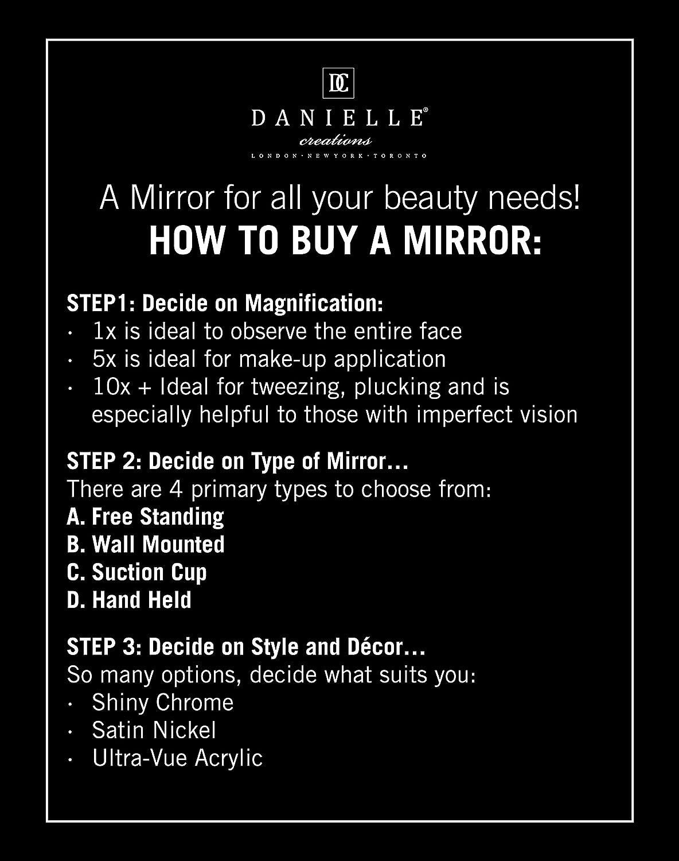 Danielle Enterprises Soft Touch 10X Magnification Round Vanity Mirror Black
