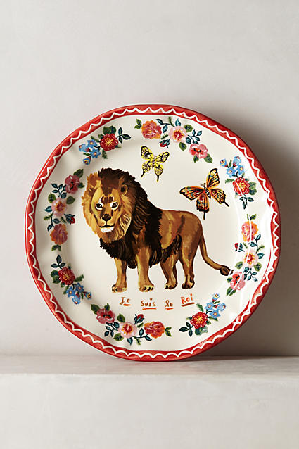 Francophile Dinner Plate - anthropologie.c​om