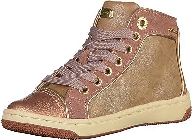 2a096b5cf65944 Geox Jr Creamy E, Sneakers Hautes Fille: Amazon.fr: Chaussures et Sacs