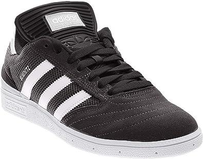 adidas Originals Men's Busenitz Sneaker, BlackLight Solid GreyMetallic Silver, 5 Medium US