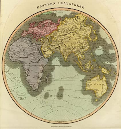1815 world atlas eastern hemisphere drawn engraved for thomsons new general atlas