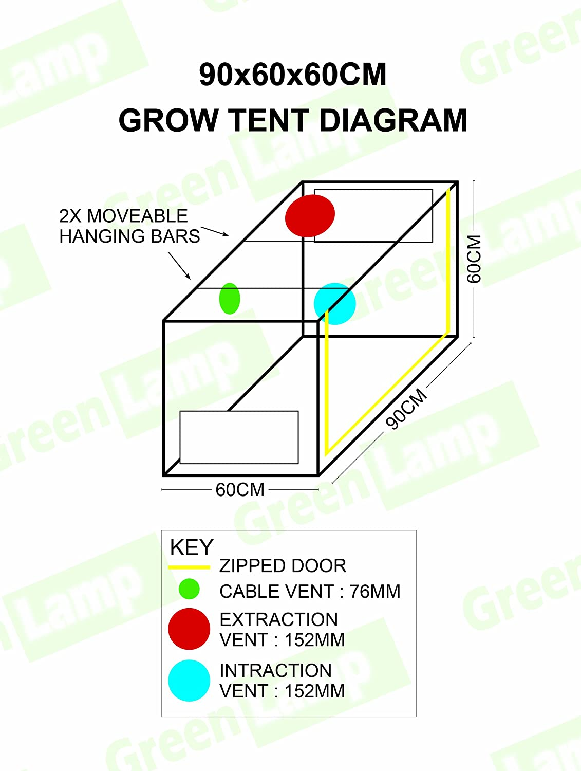 Green L& Premium 90 x 60 x 60cm 600D Mylar Indoor Propagation Grow Tent Box Hydroponics Dark Room Amazon.co.uk Garden u0026 Outdoors  sc 1 st  Amazon UK & Green Lamp Premium 90 x 60 x 60cm 600D Mylar Indoor Propagation ...