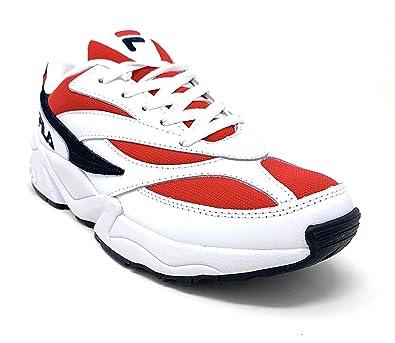 Amazon.com | Fila Men's V94M Shoes Sneakers (7.5, Red/White ...