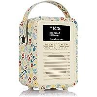 VQ Retro Mini DAB & DAB+ Digital Radio with FM & AM, Bluetooth & Alarm Clock – Emma Bridgewater Spring, (VQ-Mini-EBSPR…