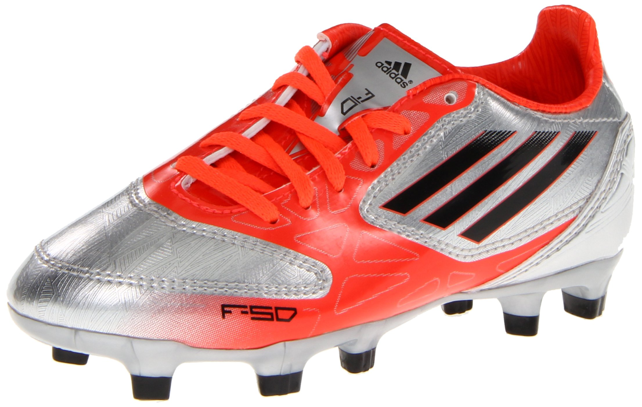 1687378814469 Galleon - Adidas F10 TRX FG Soccer Cleat,Metallic Silver/Infrared ...