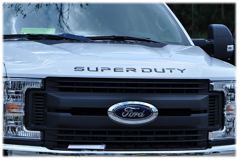TufSkinz | 2017-up Ford Super Duty Hood Inserts (Matte Black)