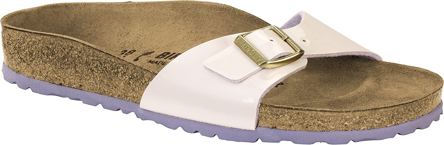 18aed3a89aa6 Birkenstock Madrid Regular Fit - Two Tone Cream Pink 1008457 (Man-Made) Womens  Sandals 42 EU  Amazon.com.au  Fashion