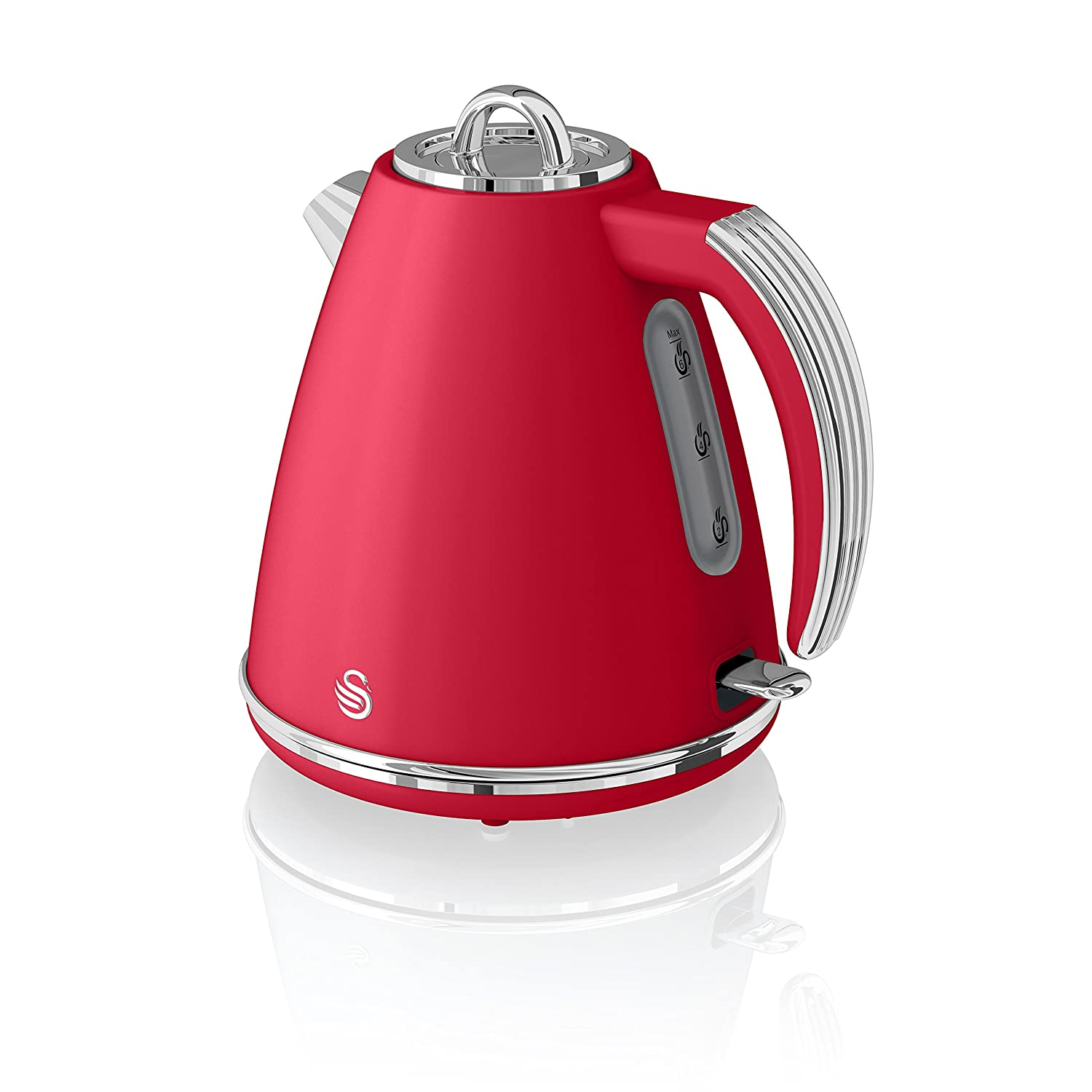 Swan, SK19020RN, Retro 1.5 Litre Jug Kettle with 360 Degree ...