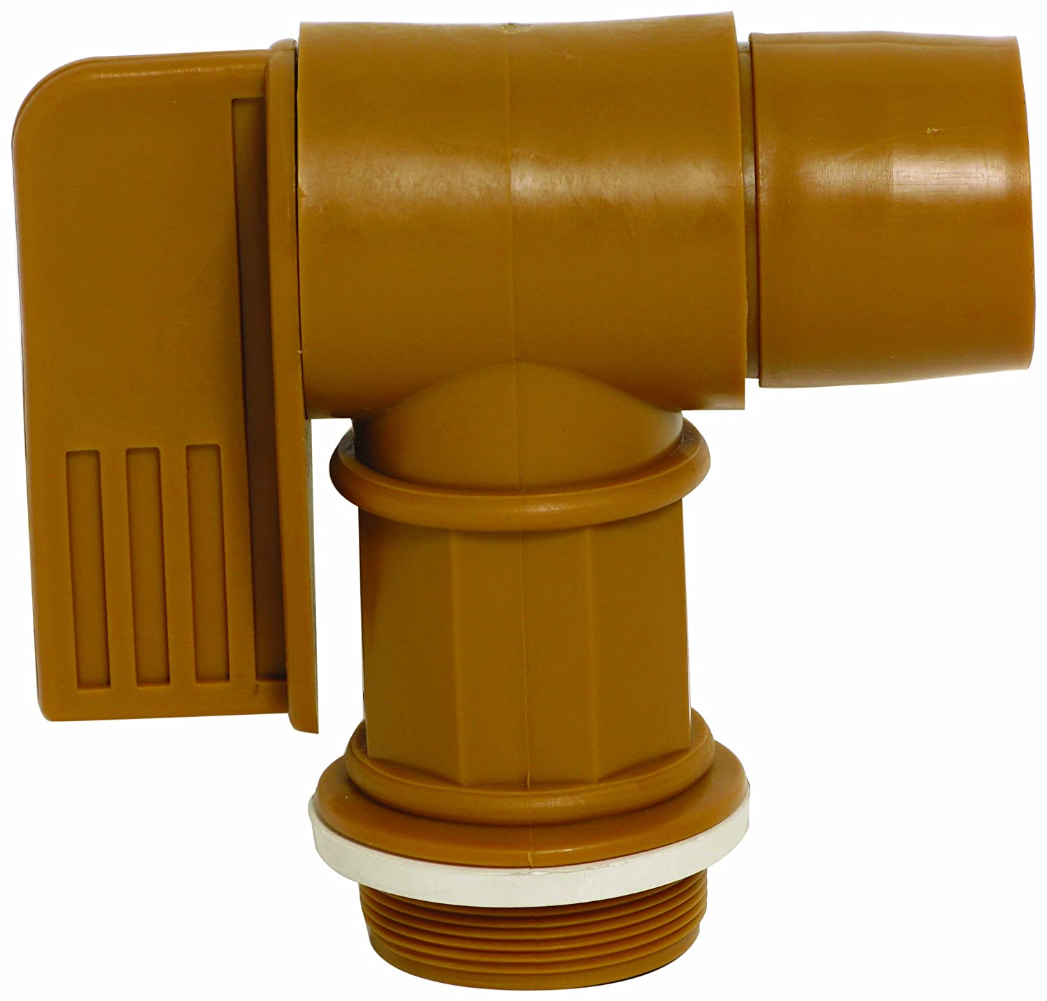 "Wesco 272176 Polyethylene Drum Faucet with EPDM Gasket, 2"" NPT Connection"