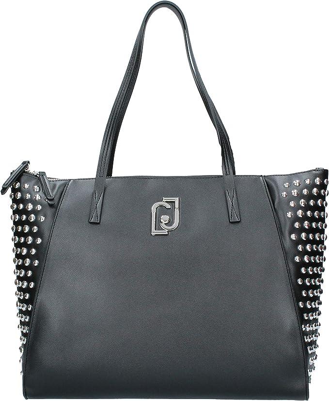 Dar a luz de múltiples fines domesticar  Borsa shopping Liu-Jo tote L in ecopelle colore nero donna B20LJ58:  MainApps: Amazon.it: Abbigliamento