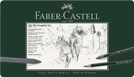 Faber-Castell 112974 - Estuche de metal con 3 ecolápices ...