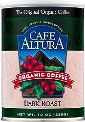 Cafe Altura Ground Organic Coffee, Dark Roast, 12 Ounce (Pack of 3)