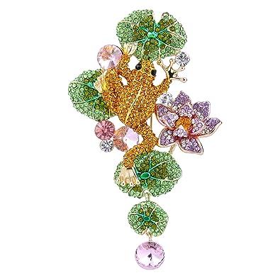 TENYE Austrian Crystal Wedding Bridal Filigree Flower Bowknot Brooch Clear 4rOvA9v2hO