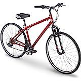 "700c Royce Union RMY Mens 21-Speed Hybrid Comfort Bike, 19"" Aluminum Frame, Metallic Red"