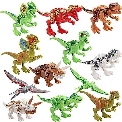 Amazon.com: LEEMOON Dinosaurio Minifiguras bloques de ...