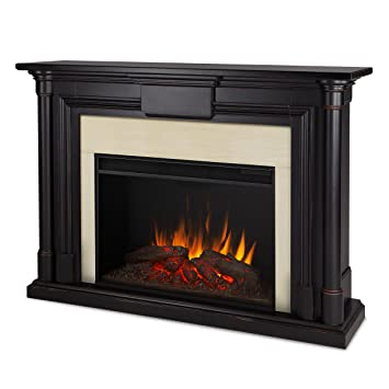 Amazon.com: Real Flame 8030E-BW Maxwell Grand Electric Fireplace ...