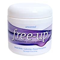 PrePak Products Freeup Massage Cream Unscented Net WT. 16 oz (454g)