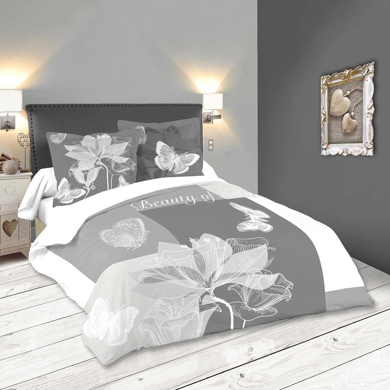 Lovely Casa Lupin Bettbezug 2 2 2 Kopfkissenbezüge 63 x 63 cm, Baumwolle, Grau, 240 x 220 cm B078T2PLP2 Bettbezüge b433a9