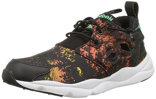 Zapatillas Reebok - Furylite negro/verde/blanco: Amazon.es: Zapatos y complementos