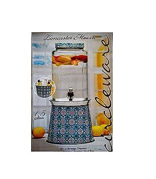 Mosaico de Lancaster de 1,5 galones dispensador de bebidas/W galvanizado Base: Amazon.es: Hogar