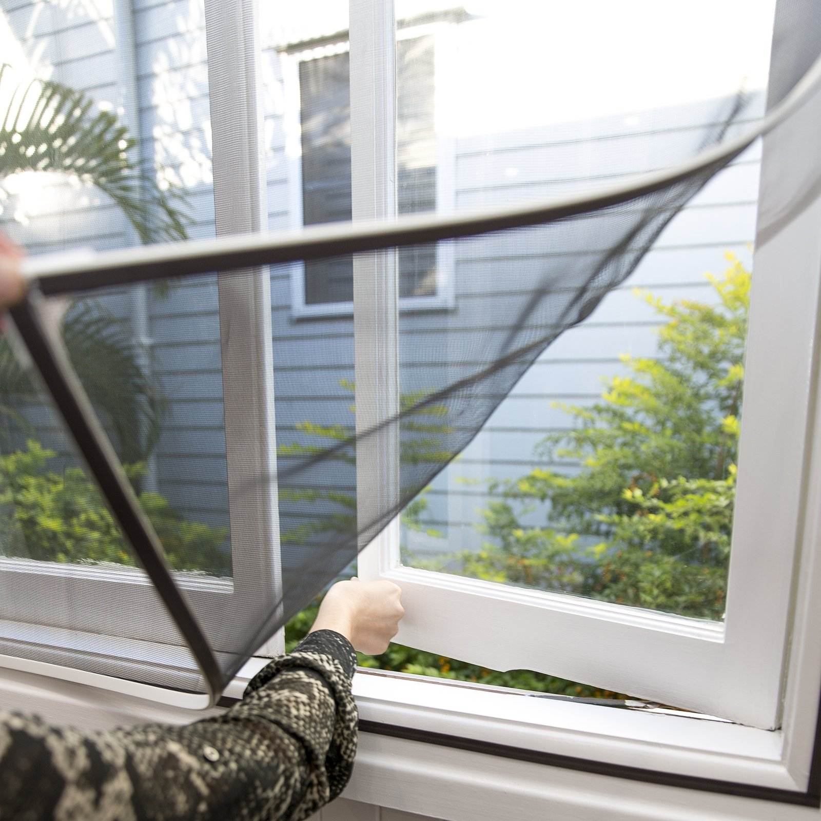 PermaStik Magnetic Window Screen, Adjustable to Fit 47.2 x 39.3 inches & Smaller