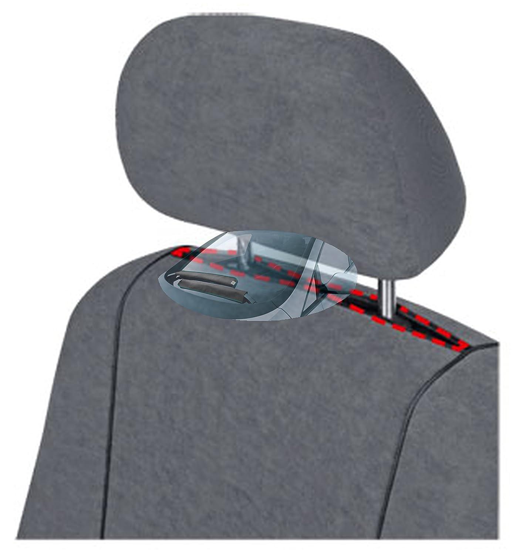 Dreierbank Stoff dunkel grau Doppelbank // Zweierbank Einzelsitz ohne Armlehnen ZentimeX Z751726 Sitzbez/üge SET Fahrersitz // Einzelsitz Armlehne rechts Beifahrersitz // Einzelsitz ohne Armlehnen