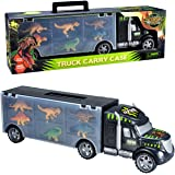 Megatoybrand Dinosaurs Transport Car Carrier Truck Toy with Dinosaur Toys Inside - Best dinosaur kids toy for ages 3 - 8 yr old