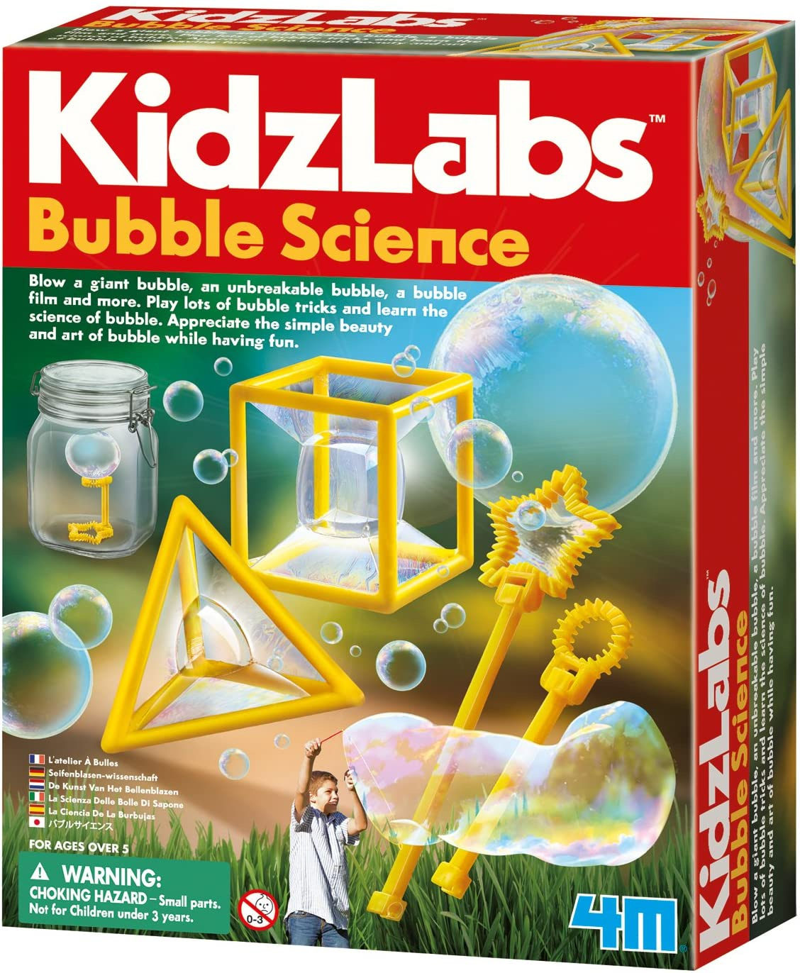 13 Best Science Kits for 6 Year Olds featured by top Seattle lifestyle blogger, Marcie in Mommyland: KidzLabs Bubble Science