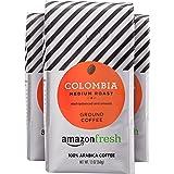 AmazonFresh Colombia, 100% Arabica Coffee, Medium Roast, Ground, 12 Ounce, Pack of 3