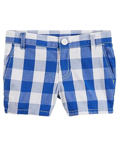 ca2c41f479 Amazon.com: Carter's Girls' Gingham Poplin Shorts, Blue: Clothing