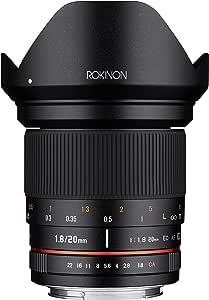 Rokinon 20mm f/1.8 AS ED UMC Wide Angle Lens for Canon EF