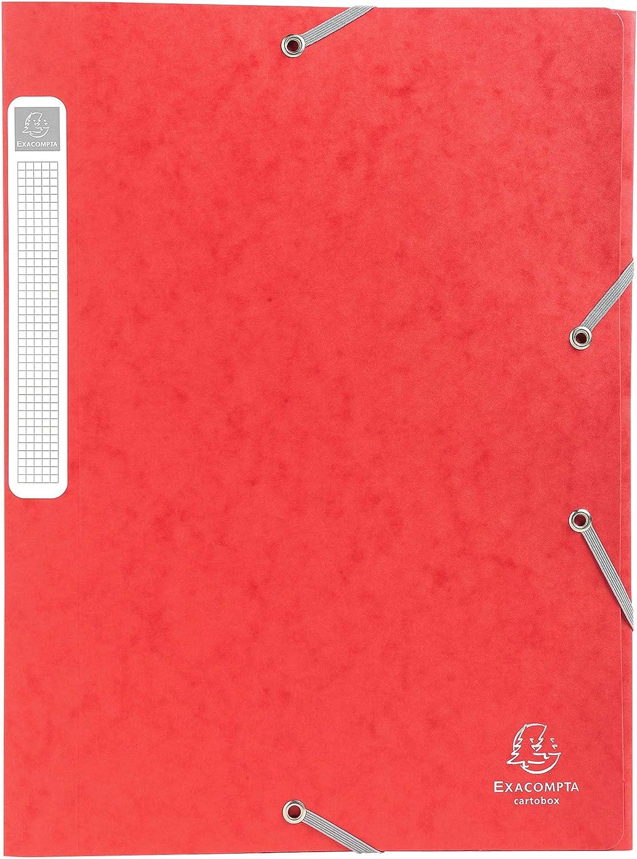A4 Ref 40mm R/ücken Exacompta Gelb 14006H Cartobox Glossy Karteikasten
