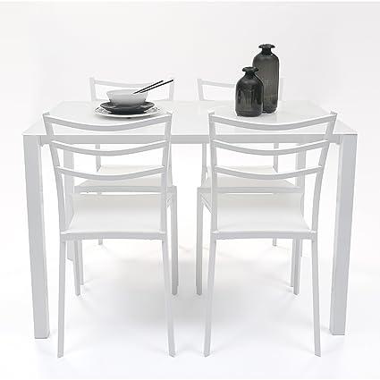 Homely - Conjunto de Mesa y Sillas de Cocina HONG KONG (mesa y 4 ...