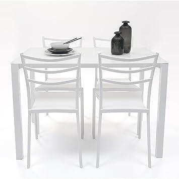 Homely - Conjunto de Mesa y Sillas de Cocina Hong Kong (Mesa 110x70 ...
