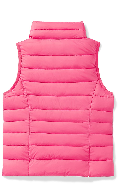 Essentials Girls Lightweight Water-Resistant Packable Puffer Vest G-S17AE10005