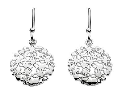 97d7b9e85 Dew Sterling Silver Circular Floral Drop Earrings 68021HP: Amazon.co.uk:  Jewellery