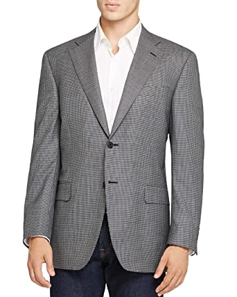 c883a918d98d15 Canali Mens Slim Fit Black & White Houndstooth Sportcoat 40 Long ...